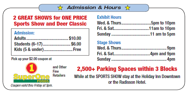 DDC Show Hours from DECC show ad